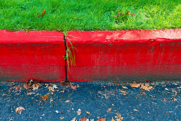 Curved Red Curb (No. 2)