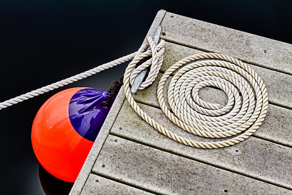 Fit to Be Tied - captured on a very cold, cloudy morning on a boat slip at Lake Union in Seattle.