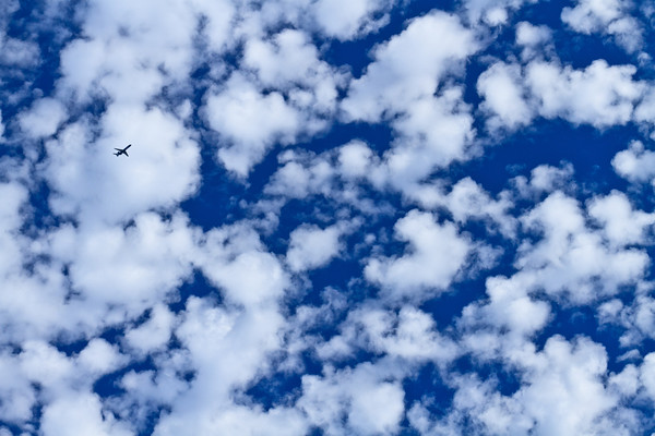 A MD-80 over Green Lake during its descent to the airport.