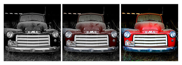 The Red Truck - photographed at Brick House Vineyards on Ribbon Ridge during Harvest 2010.